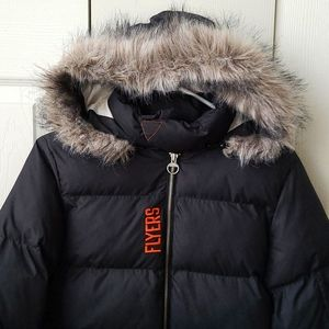 NHL Reebok Flyers Puffer Coat